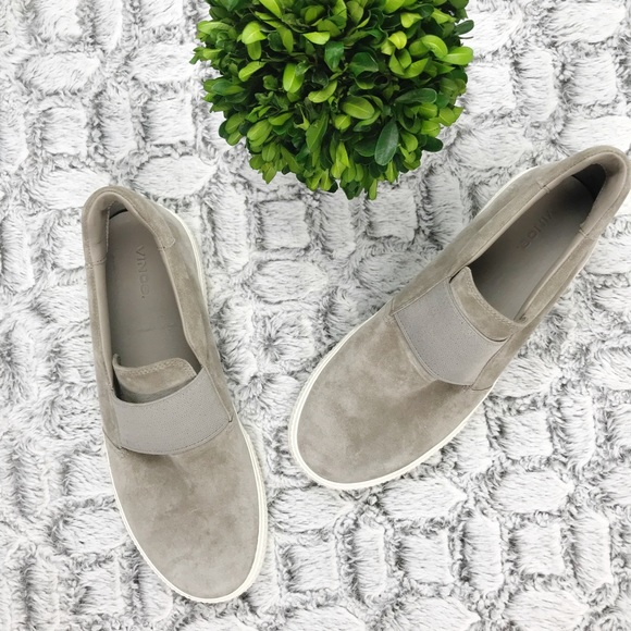 Vince Other - Vince Slip-On Suede Leather Sneakers Size 9.5 NWOB